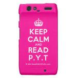 [Crown] keep calm and read p.y.t  Motorola Droid RAZR Cases