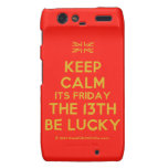 [UK Flag] keep calm its friday the 13th be lucky  Motorola Droid RAZR Cases