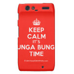 [Crown] keep calm it's bunga bunga time  Motorola Droid RAZR Cases