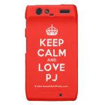 [Crown] keep calm and love pj  Motorola Droid RAZR Cases