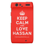 [Crown] keep calm and love hassan  Motorola Droid RAZR Cases