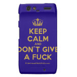 [Dancing crown] keep calm and don't give a fuck  Motorola Droid RAZR Cases