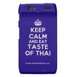 [Crown] keep calm and eat taste of thai  Motorola Droid RAZR Cases