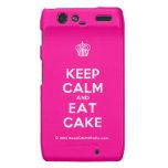 [Cupcake] keep calm and eat cake  Motorola Droid RAZR Cases
