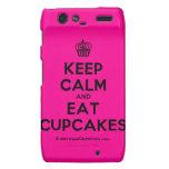 [Cupcake] keep calm and eat cupcakes  Motorola Droid RAZR Cases