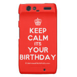 [Cupcake] keep calm its your birthday  Motorola Droid RAZR Cases