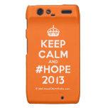 [Crown] keep calm and #hope 2013  Motorola Droid RAZR Cases
