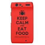 [Cutlery and plate] keep calm and eat food  Motorola Droid RAZR Cases