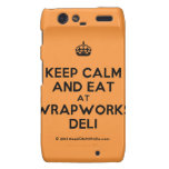 [Crown] keep calm and eat at wrapworks deli  Motorola Droid RAZR Cases