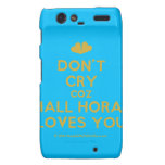 [Two hearts] don't cry coz niall horan loves you  Motorola Droid RAZR Cases