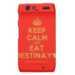 [Crown] keep calm and eat destinay♥  Motorola Droid RAZR Cases