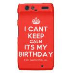 [Crown] i cant keep calm its my birthday  Motorola Droid RAZR Cases