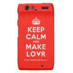 [Crown] keep calm and make lovr  Motorola Droid RAZR Cases