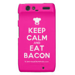 [Chef hat] keep calm and eat bacon  Motorola Droid RAZR Cases