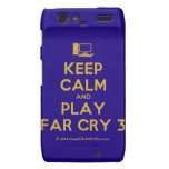 [Computer] keep calm and play far cry 3  Motorola Droid RAZR Cases