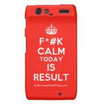 [Crown] f*#k calm today is result  Motorola Droid RAZR Cases