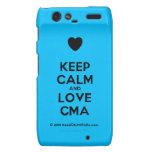 [Love heart] keep calm and love cma  Motorola Droid RAZR Cases