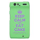[Crown] keep calm and eat cake  Motorola Droid RAZR Cases
