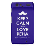 [Moustache] keep calm and love peha  Motorola Droid RAZR Cases