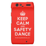 [Crown] keep calm and safety dance  Motorola Droid RAZR Cases
