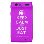 [Cutlery and plate] keep calm and just eat  Motorola Droid RAZR Cases