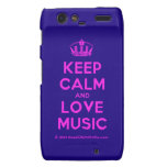 [Dancing crown] keep calm and love music  Motorola Droid RAZR Cases