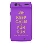[Crown] keep calm and pun pun  Motorola Droid RAZR Cases