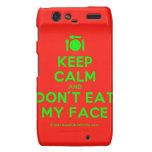 [Cutlery and plate] keep calm and don't eat my face  Motorola Droid RAZR Cases