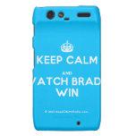 [Crown] keep calm and watch brady win  Motorola Droid RAZR Cases