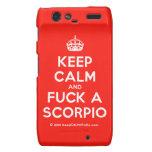 [Crown] keep calm and fuck a scorpio  Motorola Droid RAZR Cases