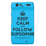 [Crown] keep calm and follow supsophie  Motorola Droid RAZR Cases