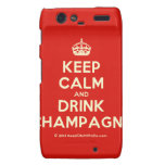 [Crown] keep calm and drink champagne  Motorola Droid RAZR Cases