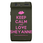 [Two hearts] keep calm and love sheyanne  Motorola Droid RAZR Cases