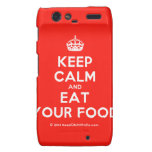 [Crown] keep calm and eat your food  Motorola Droid RAZR Cases
