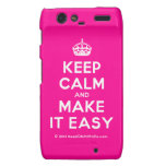 [Crown] keep calm and make it easy  Motorola Droid RAZR Cases
