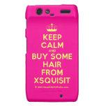 [Knitting crown] keep calm and buy some hair from xsquisit  Motorola Droid RAZR Cases