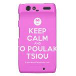 [Smile] keep calm and to poulaki tsiou  Motorola Droid RAZR Cases