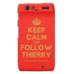 [Crown] keep calm and follow thierry  Motorola Droid RAZR Cases