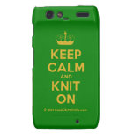 [Knitting crown] keep calm and knit on  Motorola Droid RAZR Cases