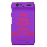 [Crown] keep calm and love nicky longo  Motorola Droid RAZR Cases