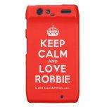 [Crown] keep calm and love robbie  Motorola Droid RAZR Cases
