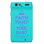 [Knitting crown] faith trust and pixie dust  Motorola Droid RAZR Cases