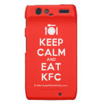 [Cutlery and plate] keep calm and eat kfc  Motorola Droid RAZR Cases