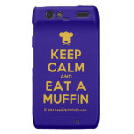 [Chef hat] keep calm and eat a muffin  Motorola Droid RAZR Cases