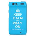 [Crown] keep calm and pray on  Motorola Droid RAZR Cases