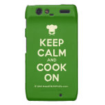 [Chef hat] keep calm and cook on  Motorola Droid RAZR Cases