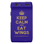 [Crown] keep calm and eat wings  Motorola Droid RAZR Cases