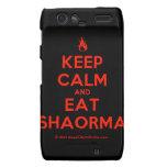 [Campfire] keep calm and eat shaorma  Motorola Droid RAZR Cases
