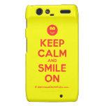 [Smile] keep calm and smile on  Motorola Droid RAZR Cases