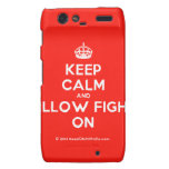 [Crown] keep calm and pillow fight on  Motorola Droid RAZR Cases